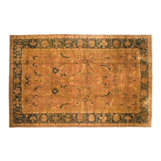 "Vintage Tea Washed Agra Carpet - 10'10"" X 17'2"" For Sale"