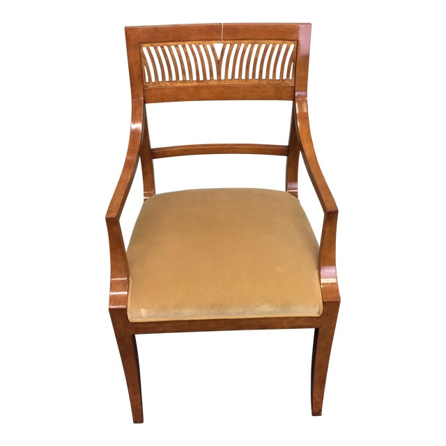 Neoclassical Upholstered Armchair - Image 1 of 8