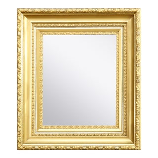 Antique Victorian Gold Giltwood Classical and Deep Wall Mirror, circa 1890 For Sale