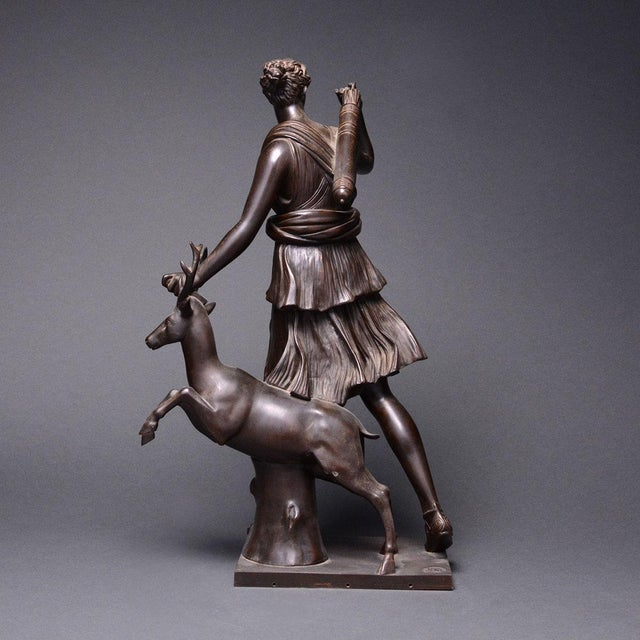 Bronze Sculpture of the Versaille Diana For Sale - Image 4 of 7