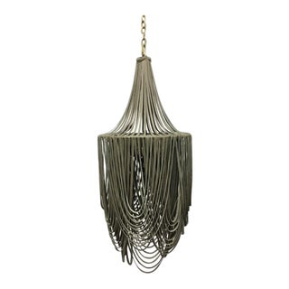 Hand Made Leather Chandelier For Sale