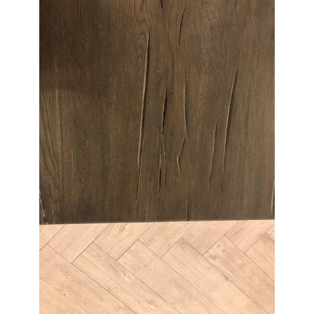 Large Rustic Oak Dining Table For Sale In San Francisco - Image 6 of 11