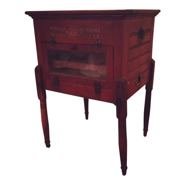 Antique Cypher Egg Incubator Side Table - Image 1 of 3