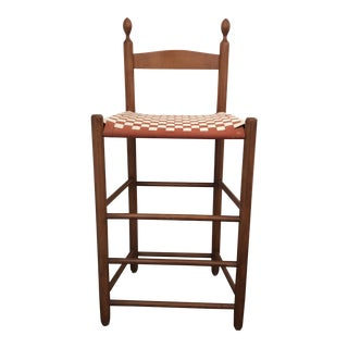 1970s Vintage Shaker Weavers Chair For Sale