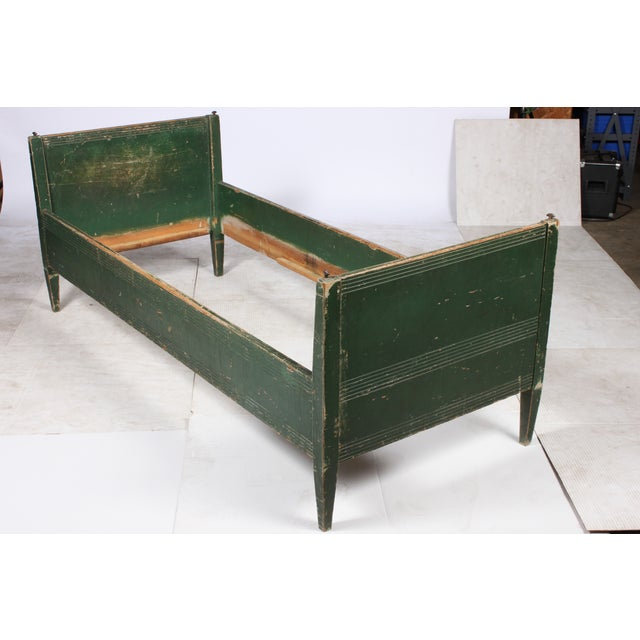 19th-C. Swedish Gustavian-Style Twin Bed - Image 4 of 4