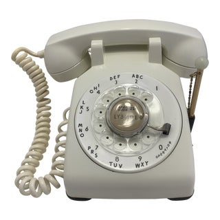 1962 White Western Electric Rotary Dial Telephone For Sale
