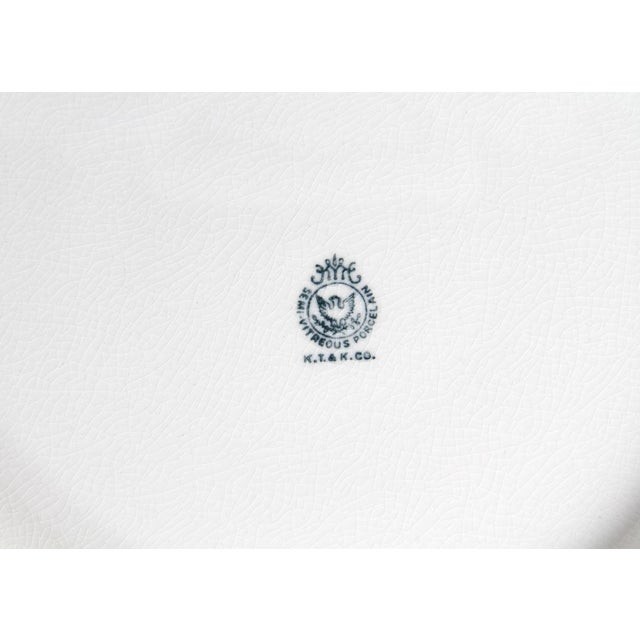 Gold Semi-Vitreous Porcelain Basin and Pitcher For Sale - Image 8 of 9