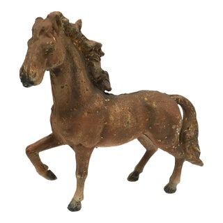 Primitive Cast Iron Prancing Horse For Sale