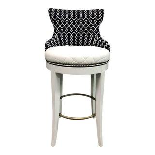 Century Furniture Tracy Swivel Bar Stool For Sale