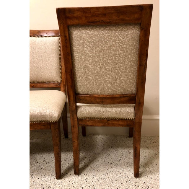 Brass Bausman & Company Bench Made Side Chairs - Set of 4 For Sale - Image 7 of 13