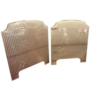 Upholstered Twin Headboards - A Pair For Sale