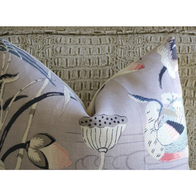 Schumacher Lilac Lotus Garden Schumacher Pillow Cover For Sale - Image 4 of 6