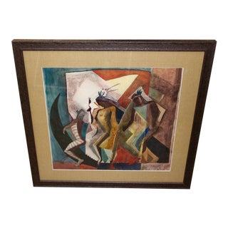 "Lloyd Moylan ""Dancers"" Painting, 1930s-1940s For Sale"