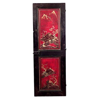 English Regency Lacquered Chinoiserie Door For Sale