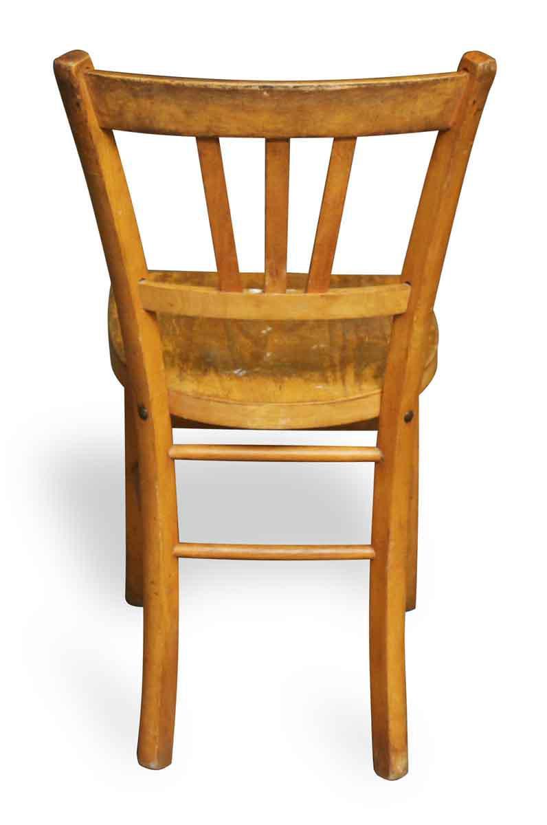 European Wooden Bistro Chairs   A Pair