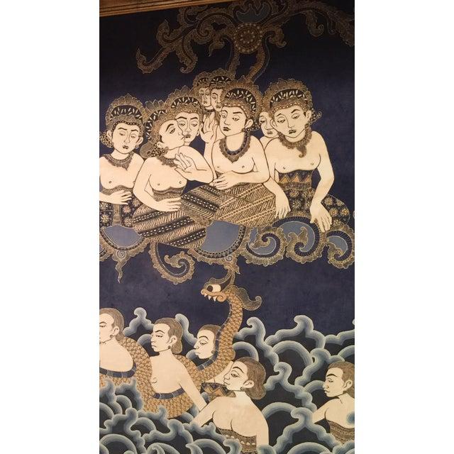 Framed Cultural Theme Indonesian Batik Artwork - Image 3 of 11
