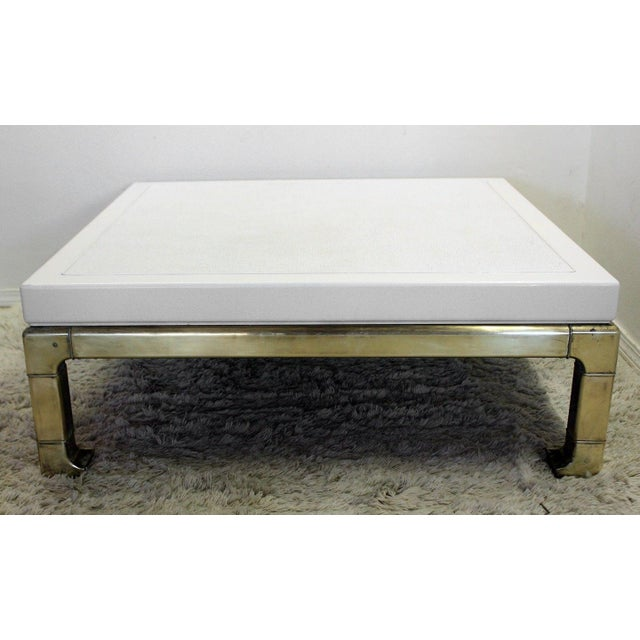Mastercraft Brass and Lacquered Coffee Table - Image 2 of 8