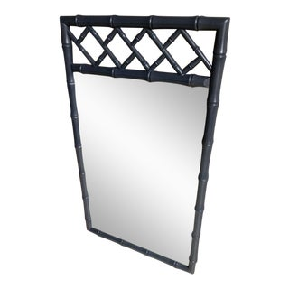 Faux Bamboo Gray High Gloss Mirror