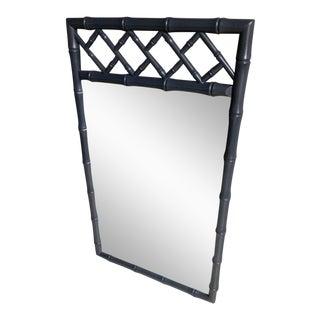 Faux Bamboo Gray High Gloss Mirror