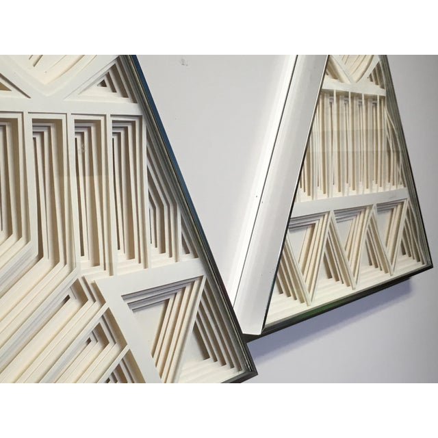 1970s Vintage Greg Copeland Paper Wall Art Sculptures - a Pair For Sale - Image 9 of 11
