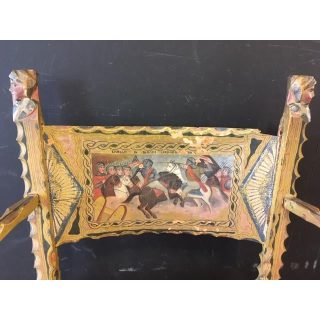 Early 19th Century Antique Italian Carved Wood Chair 19th Century For Sale - Image 5 of 9