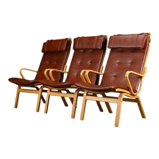 Finn Østergaard Midcentury Swedish Armchairs- Set of 3 For Sale