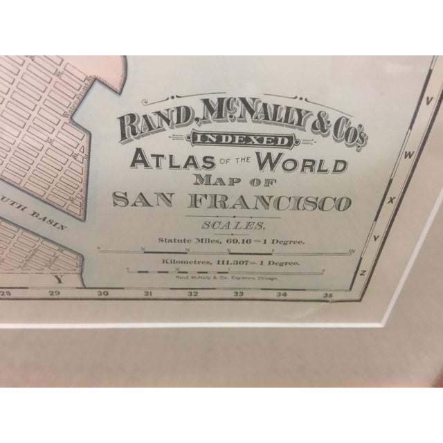Late 19th Century 1891 Rand McNally & Co Map of San Francisco For Sale - Image 5 of 6