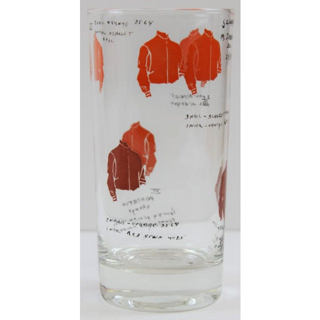 Hand-Painted Jockey Highball Glasses - Set of 6 For Sale - Image 4 of 8