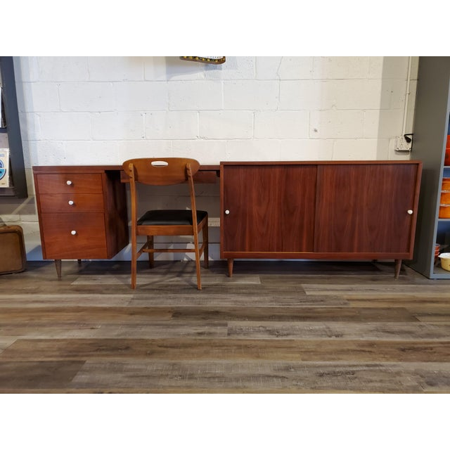 Mid-Century Modern Desk & Credenza - A Pair For Sale In Baltimore - Image 6 of 13