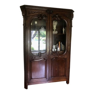 18th Century Antique French Oak Armoire For Sale