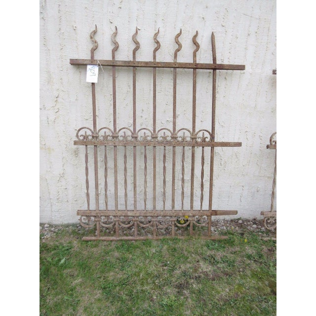 Antique Victorian Iron Gate Window Garden Fence Architectural Salvage Door #309 For Sale In Philadelphia - Image 6 of 6