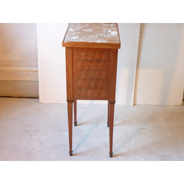 Bronze Marquetry Inlaid Night Table For Sale - Image 7 of 9