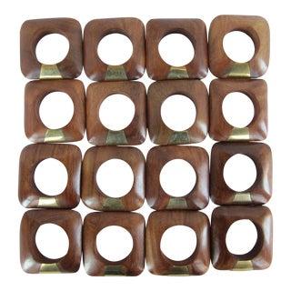 Mid-Century Napkin Rings- 16 Pieces