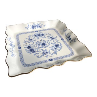 1950s Narumi Bone China Serving Platter, Plate, Decorative Bowl Made in Japan For Sale