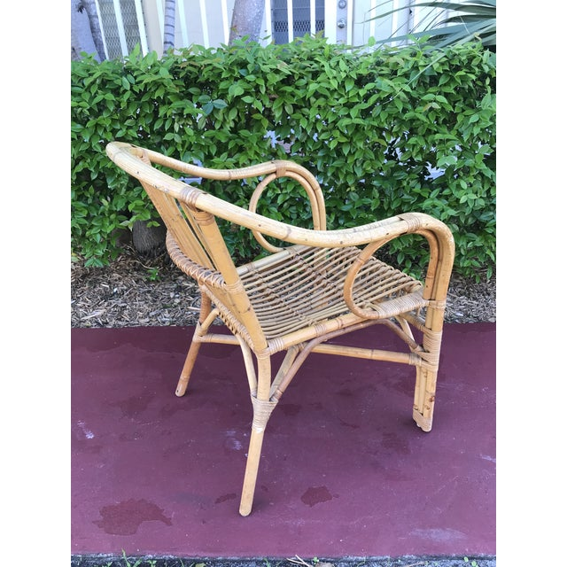 1960s Vintage Bamboo Arm Chairs- Set of 4 For Sale In Miami - Image 6 of 13