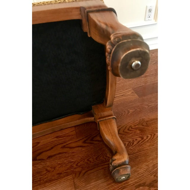Vintage Maitland-Smith Cat Ottoman For Sale - Image 5 of 7