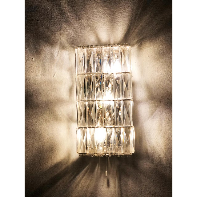 Pair of Austrian Crystal Sconces by Bakalowits and Sohne For Sale - Image 9 of 11