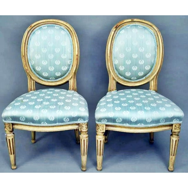 Antique Petite Louis-XVI Type French Chairs - a Pair For Sale - Image 9 of 9