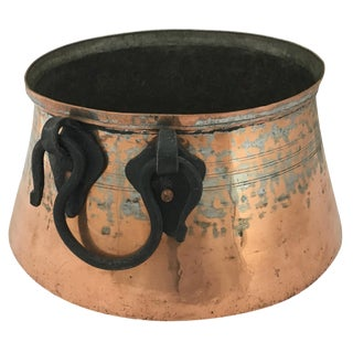 Vintage Copper Cauldron For Sale