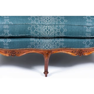 1940s Settee With Three Queen Anne Style Front Legs and Carvings Preview