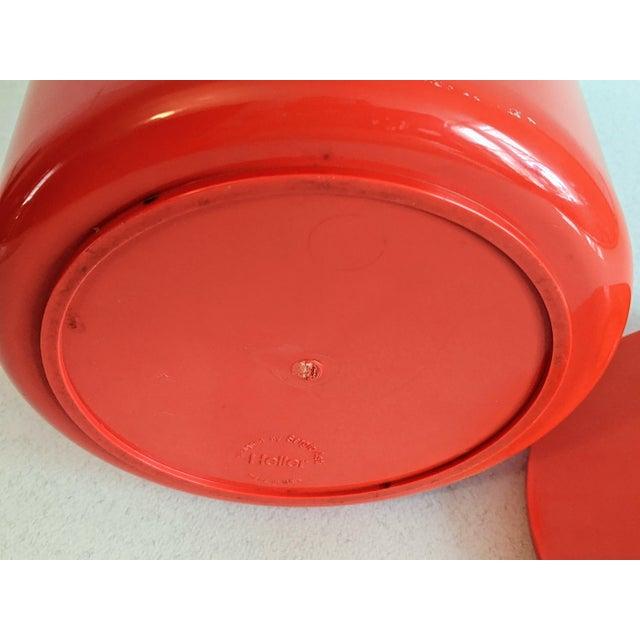 Plastic Vintage Orange Heller Ice Bucket by Sergio Asti For Sale - Image 7 of 9