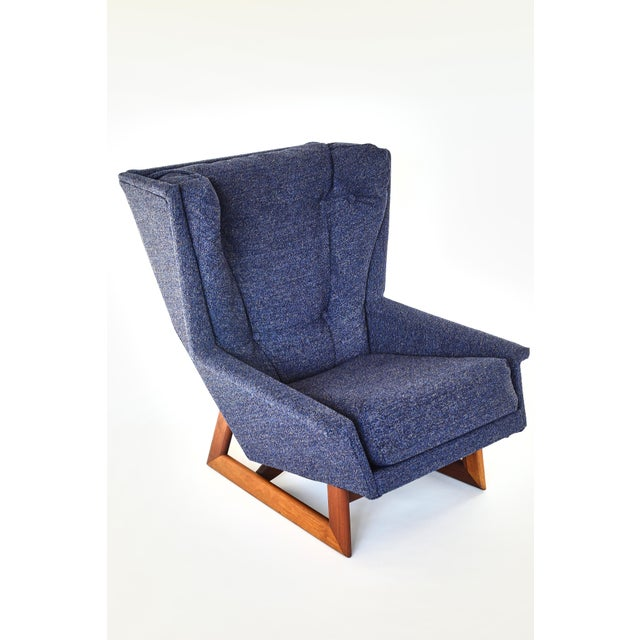 Textile Adrian Pearsall Wingback Chair For Sale - Image 7 of 7
