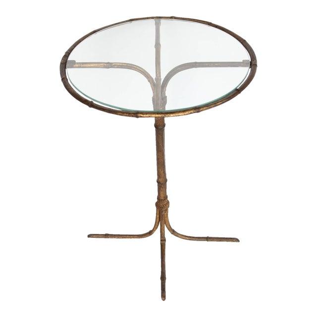 1980's Vintage Italian Gold Leaf Martini Table For Sale