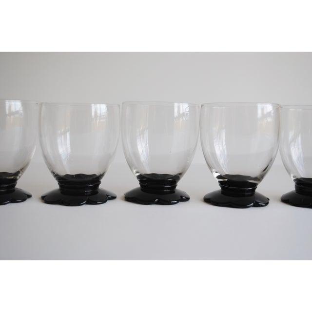 Black Scalloped Cocktail Glasses, Set of 6 - Image 5 of 8