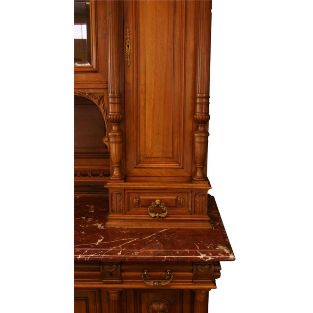 Brown 1900 French Renaissance Carved Buffet For Sale - Image 8 of 8