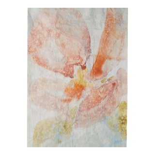 Anthropologie Watercolor Orchid Wall Mural For Sale