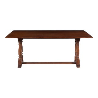 Henredon Baroque Style Mahogany Extension Library Table For Sale