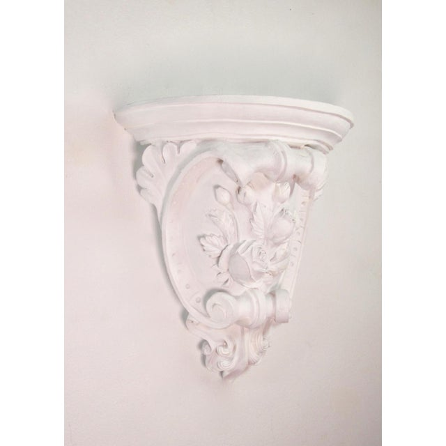 Baroque Antique French Plaster Wall Shelves - a Pair For Sale - Image 3 of 9