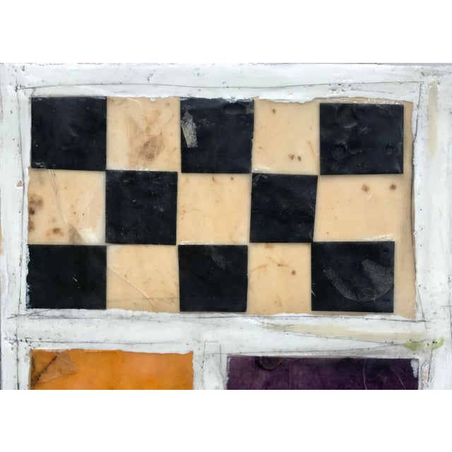 """Contemporary Gina Cochran """"Necessity of Play No. 8"""" Encaustic Collage Painting For Sale - Image 3 of 9"""