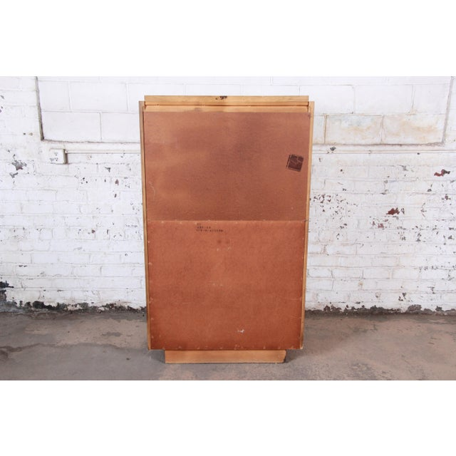 Paul Evans Style Mid-Century Modern Brutalist Walnut Armoire Dresser by Lane For Sale - Image 11 of 13